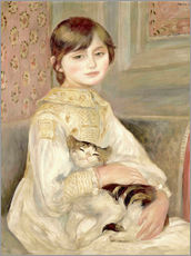Galleritryck  Child with cat (Julie Manet) - Pierre-Auguste Renoir