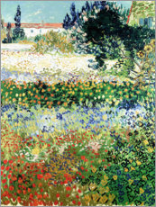 PVC-tavla  Garden in Bloom, Arles - Vincent van Gogh