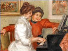Galleritryck  Yvonne and Christine Lerolle at the piano - Pierre-Auguste Renoir