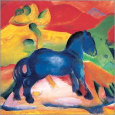 Akrylglastavla  The little blue horse - Franz Marc