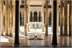 Galleritryck  Court of the Lions, Alhambra palace, Granada, Spain - Matteo Colombo