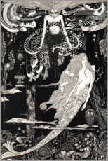Canvastavla  The Little Mermaid - Harry Clarke
