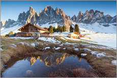 Galleritryck  Hut and Odle mountains, Dolomites - Matteo Colombo