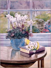 Galleritryck  Flowers and Book on Table - Julia Rowntree