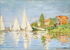 Premiumposter Regatta boats in Argenteuil