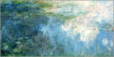 Akrylglastavla  Waterlilies, panel C II. - Claude Monet