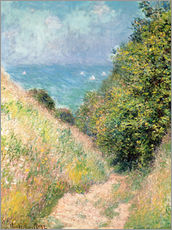Galleritryck  Narrow pass near Pourville - Claude Monet
