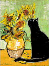 Galleritryck  The cat of Van Gogh - JIEL
