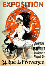 Premiumposter Exhibition by A. Willette (French)