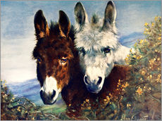 Galleritryck  The Wise Ones (Donkeys) - Lilian Cheviot