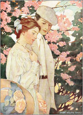 Självhäftande poster  Lovers - Jessie Willcox Smith