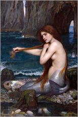 Galleritryck  A mermaid - John William Waterhouse