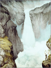 Galleritryck  At the waterfall - Theodor Kittelsen