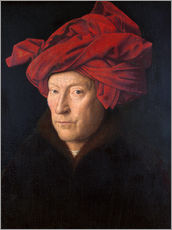 Galleritryck  Portrait of a Man in a Red Turban - Jan van Eyck