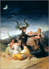 Självhäftande poster  Witches' Sabbath - Francisco José de Goya