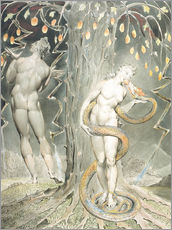 Galleritryck  Adam and Eve - William Blake