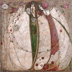 Galleritryck  The White Rose And The Red Rose - Margaret MacDonald Mackintosh