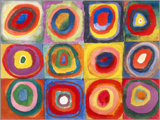 Galleritryck  Colour study - squares and concentric rings - Wassily Kandinsky