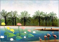 Galleritryck  The Flamingos - Henri Rousseau