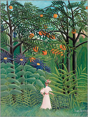 Galleritryck  Woman in an exotic forest - Henri Rousseau
