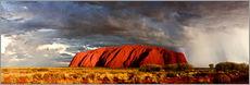 Galleritryck  Uluru (Ayers Rock), Uluru-Kata Tjuta National Park, UNESCO World Heritage Site, Northern Territory,  - Giles Bracher