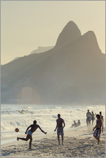 Självhäftande poster  Locals playing football on Ipanema - Alex Robinson