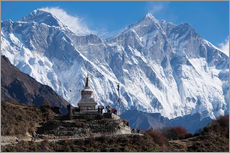 Galleritryck  Tenzing Norgye Stupa & Mount Everest - John Woodworth