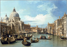 Självhäftande poster  The Entrance to the Grand Canal, Venice - Bernardo Bellotto (Canaletto)