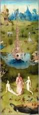 Galleritryck  Garden of Earthly Delights, the paradise - Hieronymus Bosch