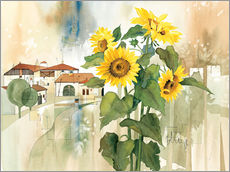 Galleritryck  Sunflower greetings - Franz Heigl