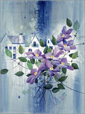 Galleritryck  View with clematis - Franz Heigl