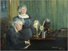 Galleritryck  Edvard Grieg accompanying his Wife - Peder Severin Krøyer