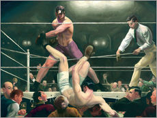 Självhäftande poster  Dempsey and Firpo - George Wesley Bellows