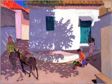 Galleritryck  Green Door and Shadows, Lesbos, 1996 - Andrew Macara