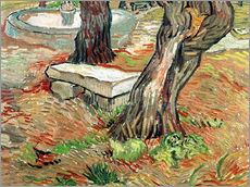 Galleritryck  The Bench at Saint-Remy - Vincent van Gogh