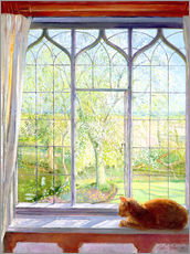 Galleritryck  Cat in window in spring - Timothy Easton