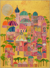 Självhäftande poster  The Golden City - Laila Shawa