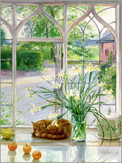 Galleritryck  Sleeping cat in the window - Timothy Easton