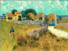 Galleritryck  Farmhouse in the Provence - Vincent van Gogh