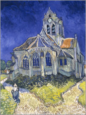 Canvastavla  The Church at Auvers-sur-Oise - Vincent van Gogh