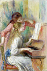 Galleritryck  Young Girls at the Piano - Pierre-Auguste Renoir