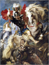 Premiumposter  St. George and the Dragon - Peter Paul Rubens