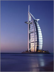 Galleritryck  The Burj Al-Arab at dusk - Ian Cuming