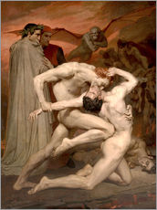 Självhäftande poster  Dante and Virgile - William Adolphe Bouguereau