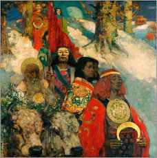 Självhäftande poster  The Druids: Bringing in the Mistletoe - Edward Atkinson Hornel