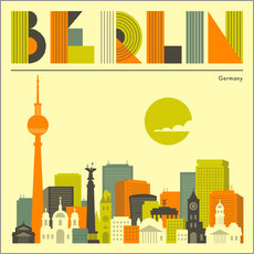 Galleritryck  Berlin skyline - Jazzberry Blue