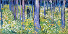 Akrylglastavla  Undergrowth with Two Figures - Vincent van Gogh