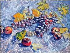 Akrylglastavla  Grapes, Lemons, Pears and Apples - Vincent van Gogh