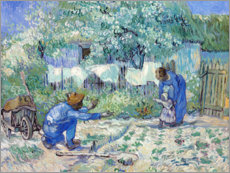 Premiumposter  First Steps, after Millet - Vincent van Gogh