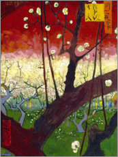 Aluminiumtavla  Flowering Plum Orchard (after Hiroshige) - Vincent van Gogh